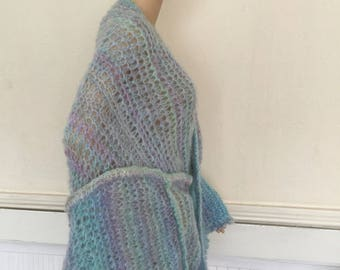Large handmade scarf Mohair wool and Acrylic by Naravaite