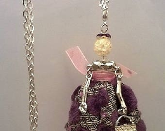 """Pendant necklace - Articulated Doll - """"Patotte Anna"""""""