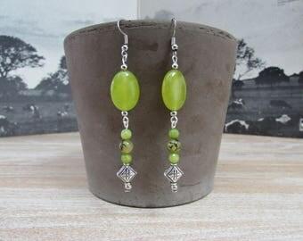 """Péridot"" gemstones earrings"