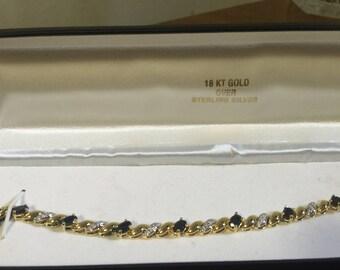 tennis bracelet 18 kt gold