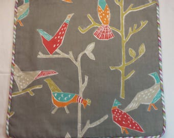 Abstract Birds on Trees Accent Pillow Cover