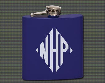 Stainless Steel Flask - Monogrammed Initials