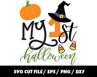 My first Halloween SVG, 1st Halloween svg, Halloween svg, Halloween Cricut, Witch svg, Witch cricut, Pumpkin svg, Pumpkin cricut, Candy svg