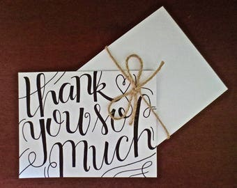 Beautifully Swirled Thank You Card (set of 5)