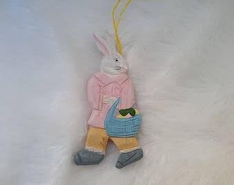 wooden hanging wooden rabbit