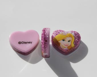 Acrylic - Disney Rapunzel glitter beads