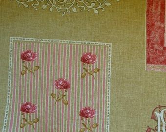 Coupon 140 x 110 cm beige MFTA lacemaker cm French toile pink