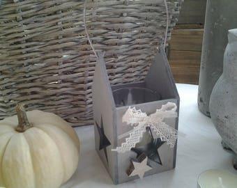 Grey wood candles tealight