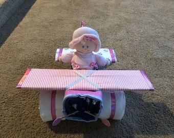 Girl diaper airplane-small