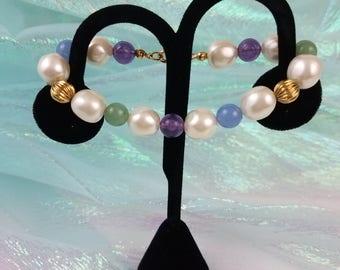 "Vintage Avon Impressionistic Pastels 7"" Bracelet"