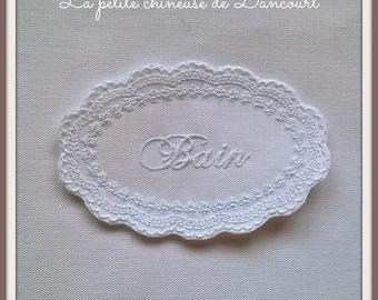 White embroidered Medallion