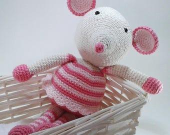 Mouse amigurumi cotton 26 cm
