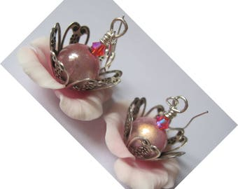 "Earrings 925 Sterling Silver ""Precious Anemones"""