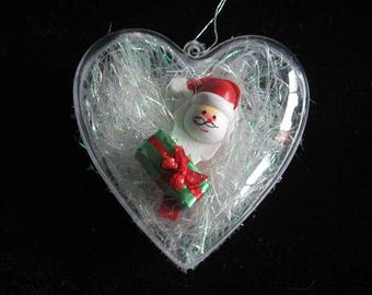 """Heart ball childhood memory """"Santa Claus with his green gift"""""""
