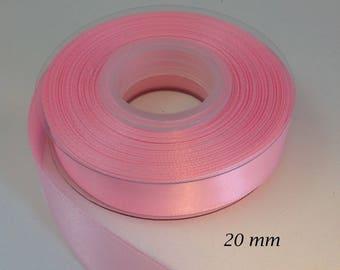 20 mm satin ribbon - light pink iridescent
