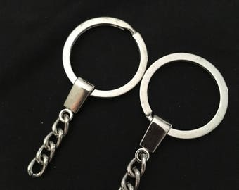 3 rings and chains for Keychain, bag jewellery creations.