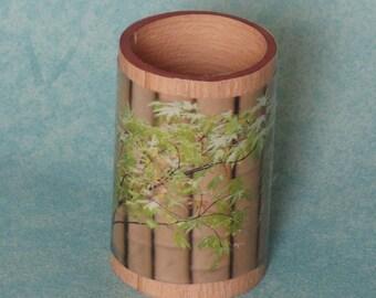 pencil holder, roll cardboard tree vase