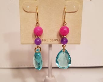 Dangle earrings in bright summer colors