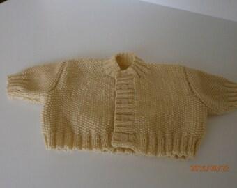 beige premature Cardigan in MOSS stitch