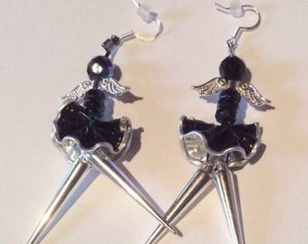 Earrings black Nespresso Angels