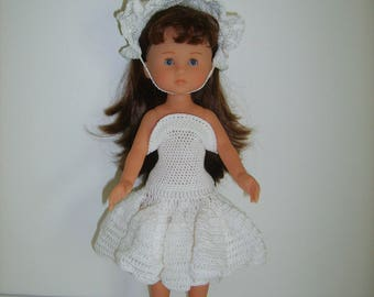 Set crocheted doll 33cm