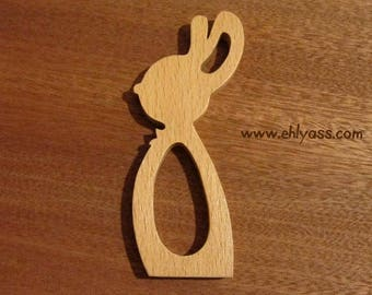 Napkin rabbit wooden fretwork 2 (end)