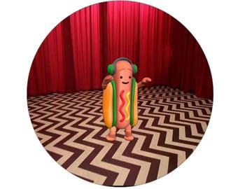 Hotdog Lodge Button