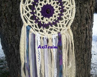 Handmade crochet dreamcatcher or dream catcher