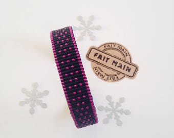 Black Miyuki Cuff Bracelet