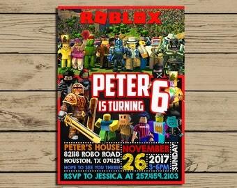 Roblox Invitation  * Roblox Birthday Invite * Roblox Birthday Party Chalkboard Invitations * Personalized * YOU PRINT