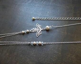 """Headband wedding """"Maé"""" with swarovski pearls"""