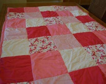 Breast Cancer Awareness Block Quilt