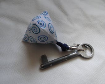 Keychain mini berlingot blue circles