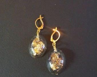 dangle earrings, resin