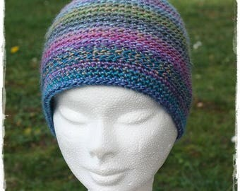 Simple crochet multicolor Beanie.