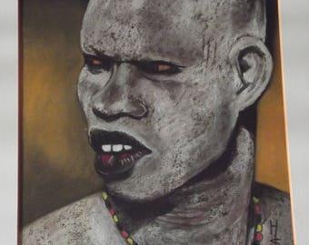 Warrior fighting skin Ashen nuba tribe