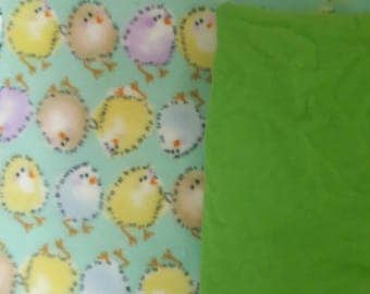 Custom Adult Blankie  (Green Birds)