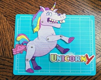 Unicorny - Articulated Paper doll