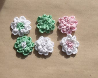 set of 6 embossed flowers of different colors for customization.