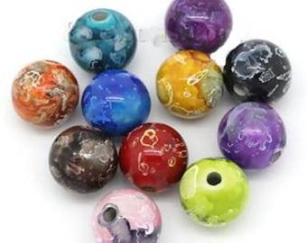 Acrylic round beads bright 16mm in diameter