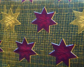 African fabric, fabric African wax x116cm 90cm