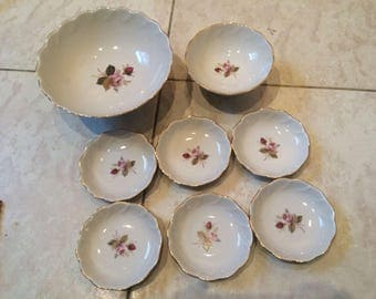 Amazing Dessert Set Of 8 Items Porcelain LOZ (LZFI) USSR