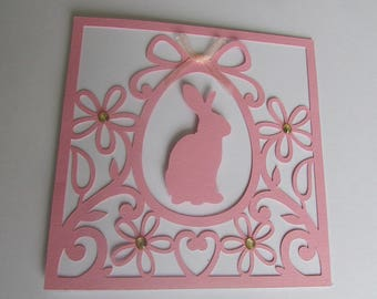 Card double Easter Bunny