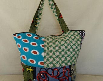 Beach Tote and novelty oven bag all Ref: SC2-09 fabric African cotton patcwork
