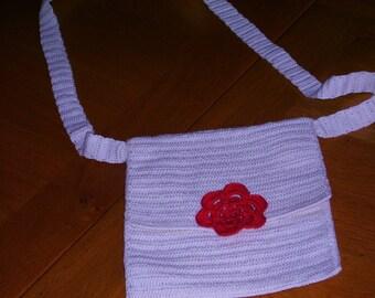 bag was ecru crochet