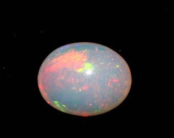 4.60 Cts Ethiopian Fire Opal Fine Quality Gemstone Cabochon 13 x 10.4 MM. (#038)