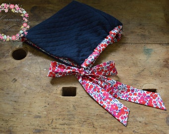 crush in liberty wiltshire red and Navy Blue