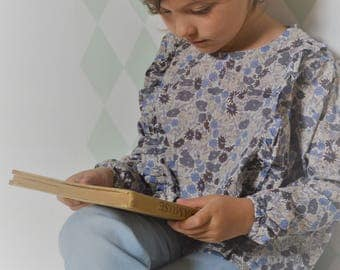 Blouse liberty poppy and dasy slate