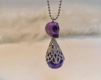 Skull bead purple ORIGINAL little doll