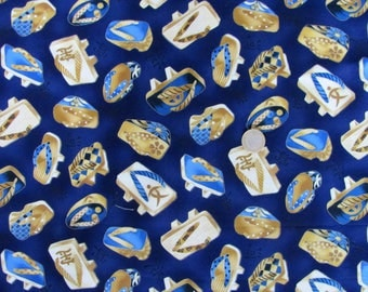 1 meter of fabric by Robert Kaufman indigo Sandals Japanese